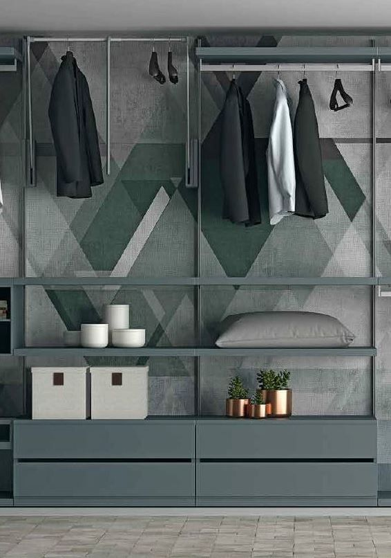 Sectional walk-in wardrobe EASY PROJECT - from dallagnesespa