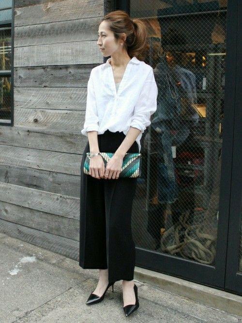 Spick & Span 本社|haruさんのシャツ/ブラウス「≪予約≫リネンシャンブレー ロングシャツ。」(FRAMeWORK|フレームワーク)を使ったコーディネートです。