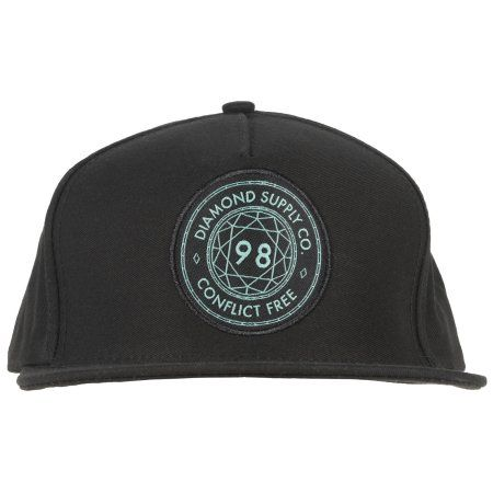 a49bd5c9734 Diamond Supply Co Conflict Free Snapback Hat Headwear Cap Streetwear Mens  Black  diamondsupply