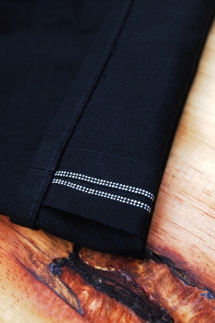 Oldblue Co. Work Pants Type I - Black Selvedge Duck | Selvage Line Detail.