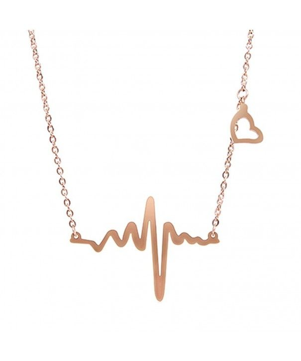 54f76826e Necklaces, Chains,Lady Electrocardiogram Pendant Heartbeat Heart Rhythm ECG  EKG Simple Necklace CS12LHXJ88P #Necklaces #fashion #jewelry #jewels #gift