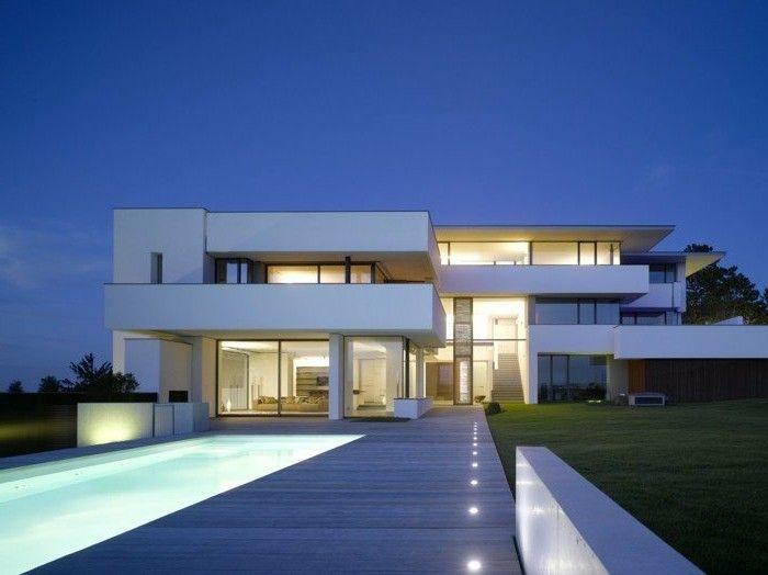 59 best Maison moderne images on Pinterest Modern houses, Tiny - plan maison contemporaine toit plat gratuit