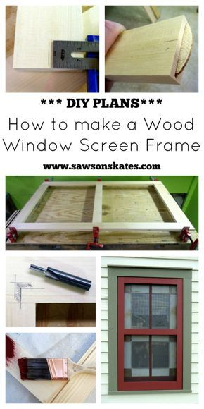 Have a broken or missing window screen? Make your own with this DIY plan - How to Make a Wood Window Screen Frame!