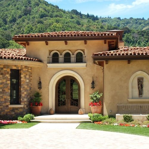 Mediterranean House Plans Stucco Exterior Paint Color: 30 Best Exterior Paint Colors For Brown Roof Images On
