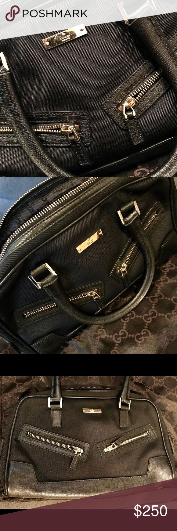 Authentic Gucci bag NEW / Unused Black Leather and canvas Gucci Bag. Perfect condition (unused). Comes with dust bag.    *Price Negotiable* Gucci Bags Mini Bags
