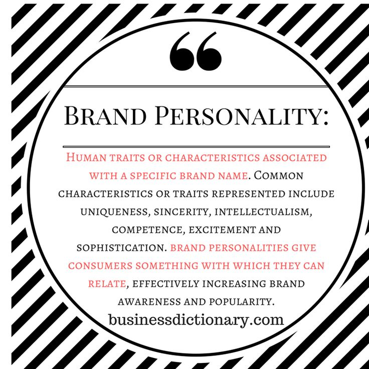 Dictionary definition of brand personality #brandpersonality #branding