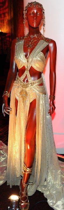 Dejah Thoris's dress from John Carter, on display at the El Capitan Theatre in Hollywood