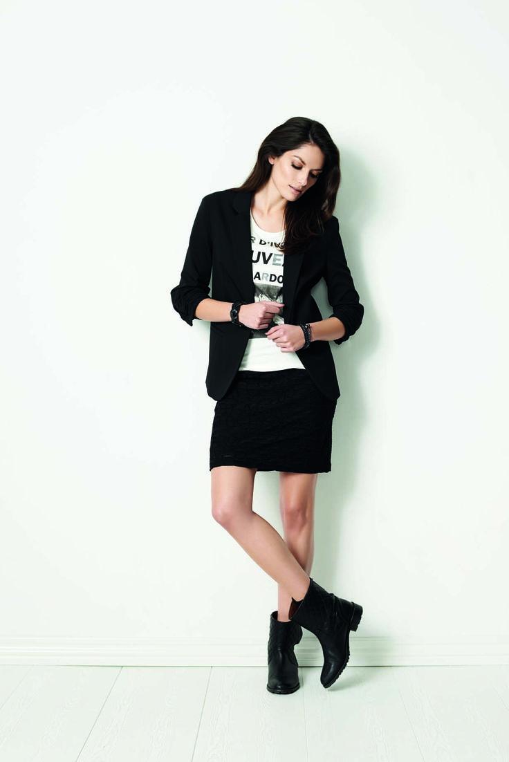 soyaconcept - blazer - jacket - T-shirt - blouse - skirt
