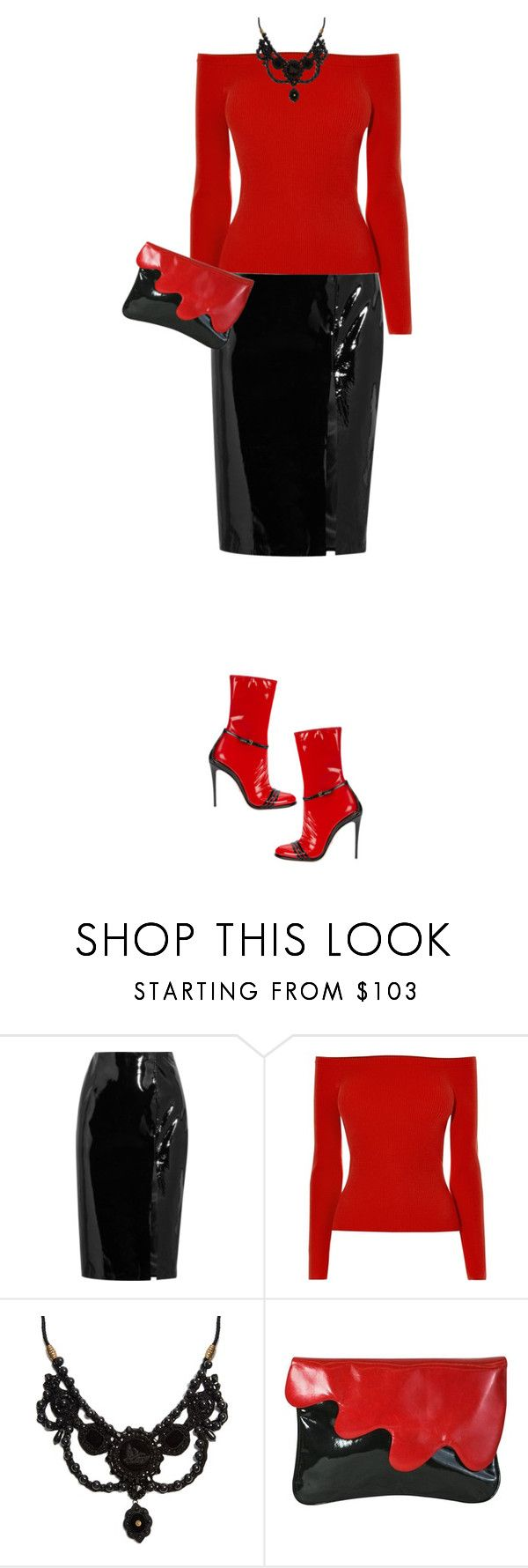 """""""Patent Leather"""" by marion-fashionista-diva-miller ❤ liked on Polyvore featuring Topshop Unique, Karen Millen, Gucci, Luciano Padovan, patentleather and contestentry"""
