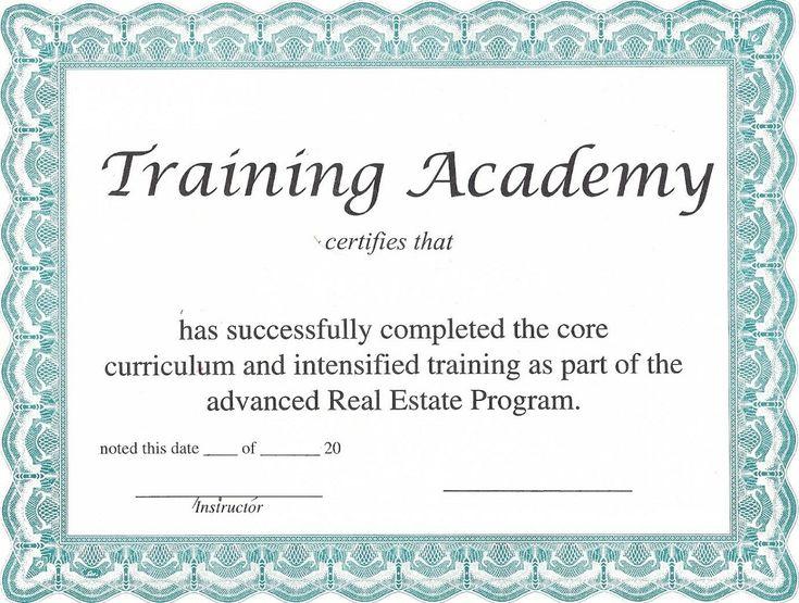 En Iyi  Fikir Blank Certificate Te