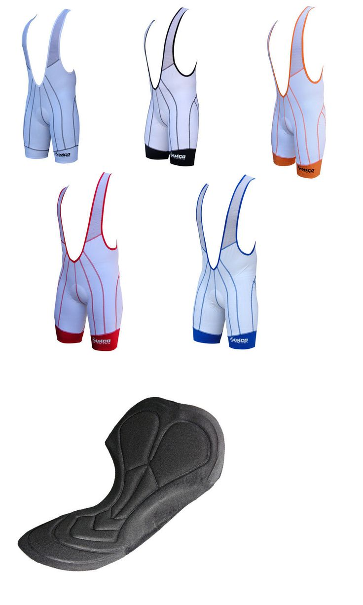 Shorts 177853: Zimco Air Plus Cycling Bib Short Cycle Bibs Bike Shorts Padded White 1001 -> BUY IT NOW ONLY: $49.99 on eBay!
