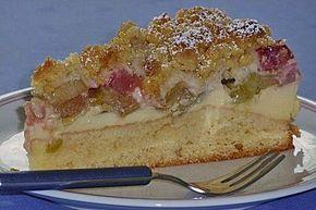 Rhabarberkuchen mit Vanillecreme und Streusel, ein leckeres Rezept aus der Kategorie Backen. Bewertungen: 751. Durchschnitt: Ø 4,6.