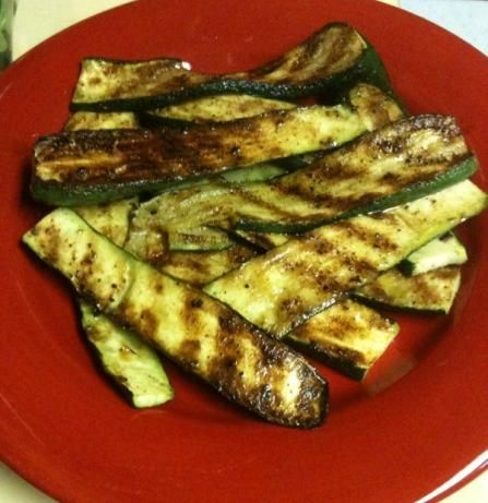 Grilled Zucchini from Food.com:   This is a great and simple summer recipe as I am always looking for new things to do with all the zucchini out of my garden.  I actually owe this one to my good buddy Mike, as he came up with it first.