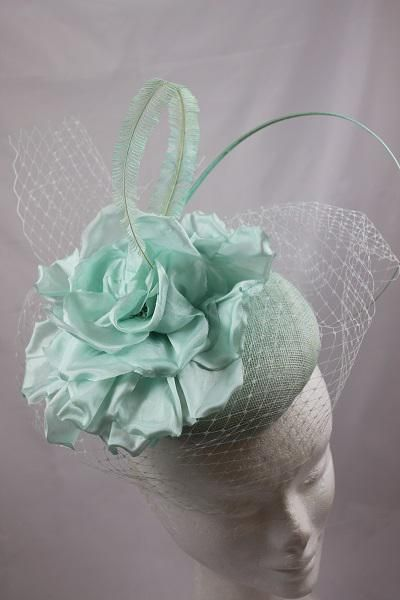 'Mint Button' Beautiful Hat tone with soft textures by Suzie Mahony Designs
