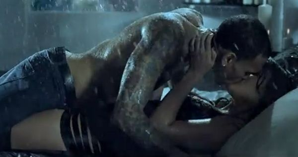 Chris Brown gets wet and wild