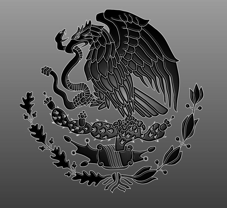Mexican Flag Eagle by dragonprow on deviantART