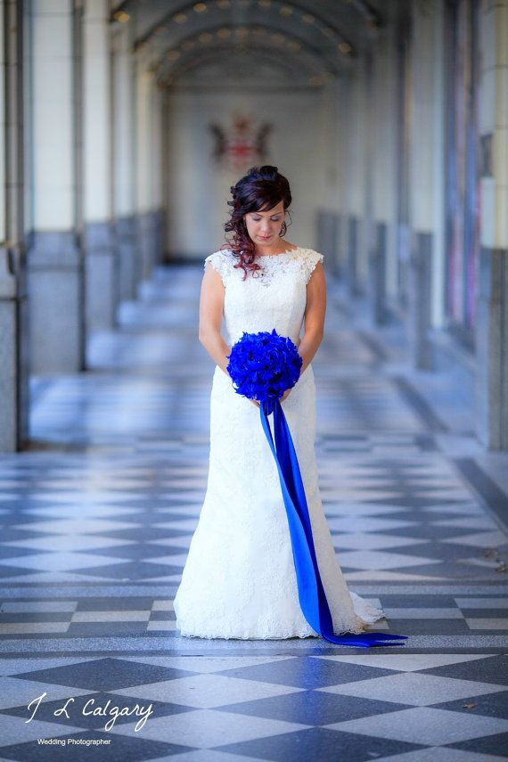 Ramo, ramo de novia, Bouquet de plumas, broche ramo, Peony Bouquet, cobalto, azul, Rhinestone, perla, elegante ramo de novia