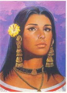 Dit is La Malinche, zij was de tolk en geliefde van Hernán Cortés. Ze is geboren in Coatzacoalcos (Mexico), 1505 en stierf vermoedelijk rond 1529.