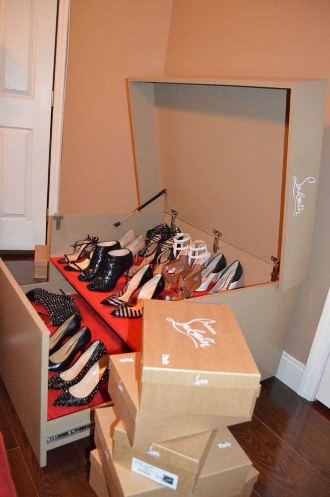 christian louboutin shoe box drawer