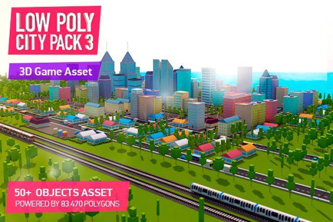 Low Poly City Pack 3 by Anton Moek on @creativemarket