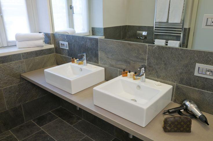 hotel bathroom in Indian stone
