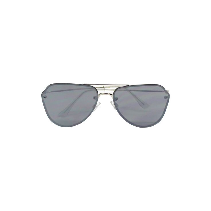 Women's Aviator Sunglasses - Silver/Mirror