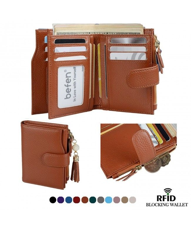 Blocking Genuine Leather Organizer Caramel Brown Rfid Wallet Small Cd188n6t6aw Rfid Wallet Genuine Leather Leather