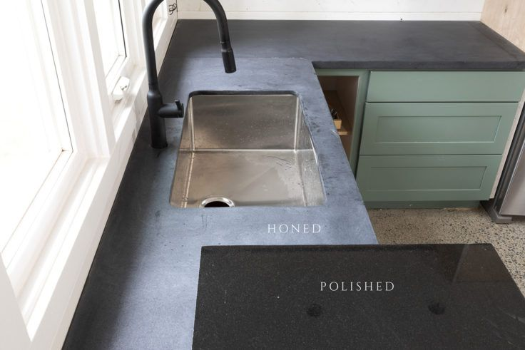 Honed Absolute Black Granite Countertops Vs Polished Tacoma Converted Garage Moody Kitchen The Grit And Polish