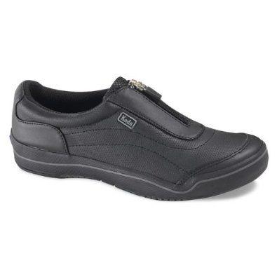 Keds Wh37730 Hampton Sport Zip Black Leather Size 5.5 M Keds. $44.99