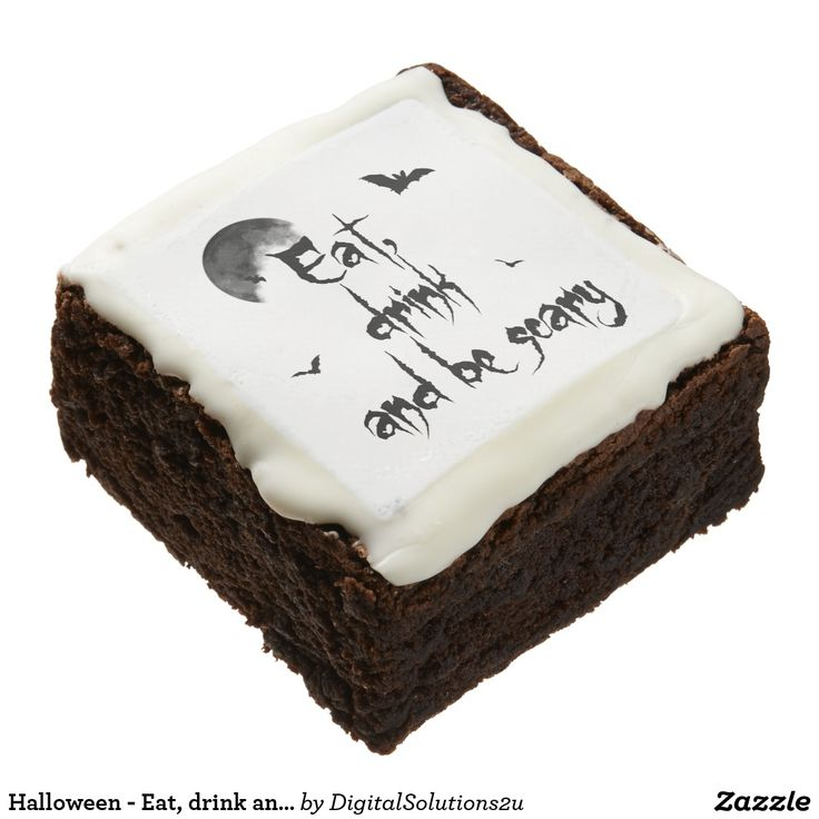 Halloween - Eat, drink and be scary Chocolate Brownie