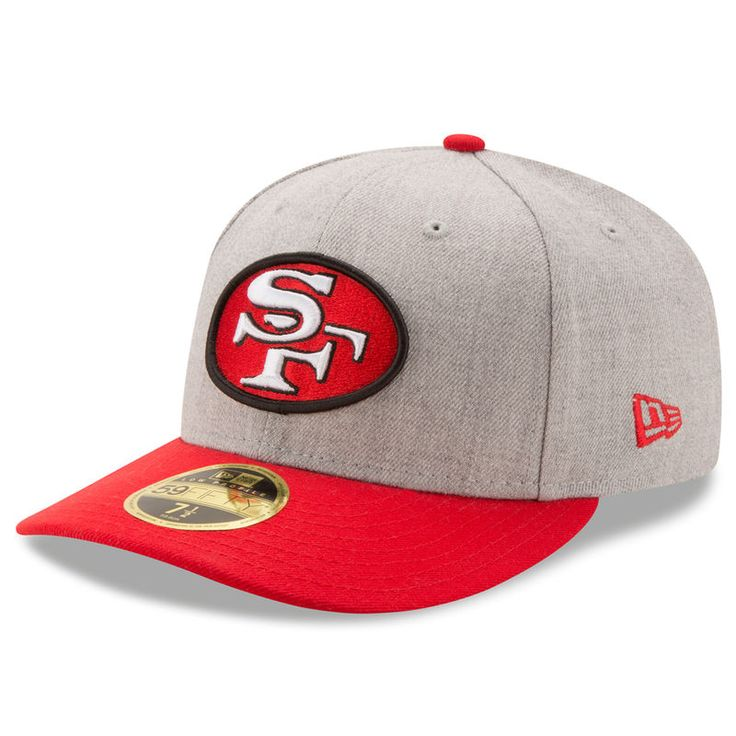San Francisco 49ers New Era Super Bowl XVI Champions Classic Low Profile 59FIFTY Fitted Hat - Heathered Gray/Scarlet