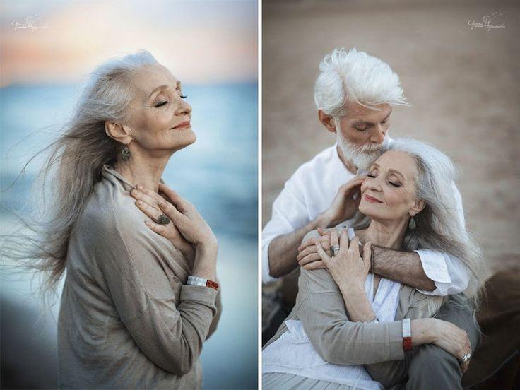 Bonitas fotografías de una veterana pareja a cargo de una artista rusa
