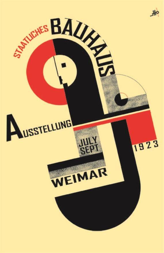 1923 Premium-Poster Bauhaus-Ausstellung Joost Schmidt