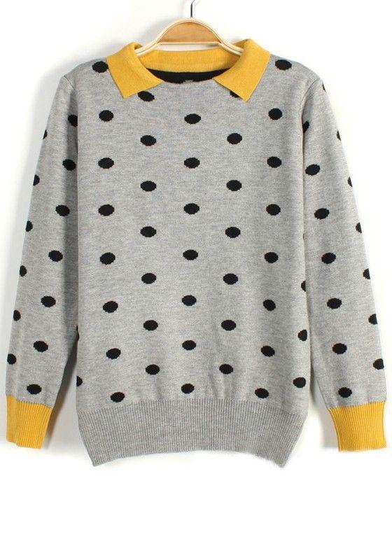 Polka Dot Patchwork Sweater <3