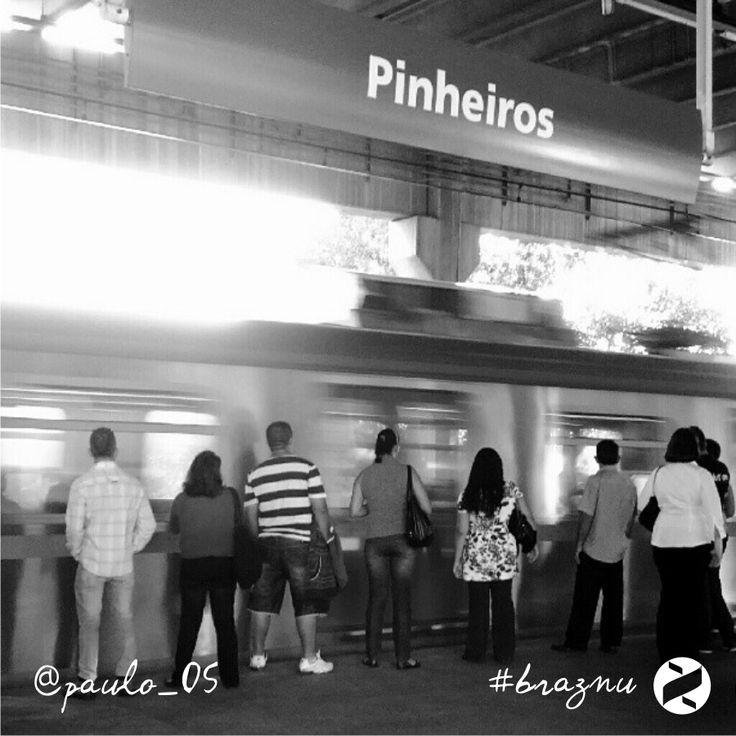Pinheiros Metro Station (Sao Paulo) #brazil *** Send us a picture on Instagram #braznu