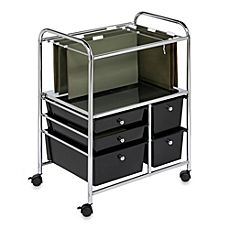 image of Honey-Can-Do® Steel Rolling File Cart