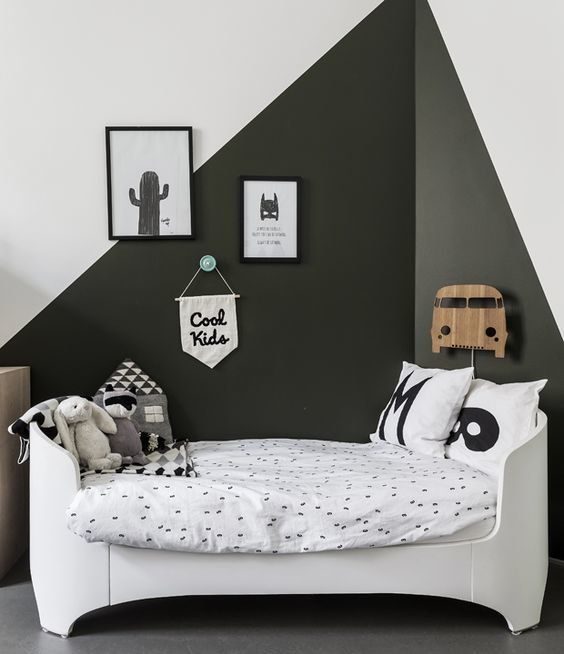 Super cute monochrome scandi style boys room