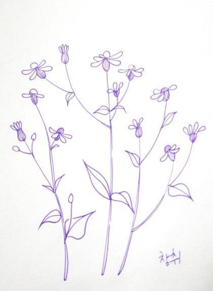 야생화자수도안-참취꽃