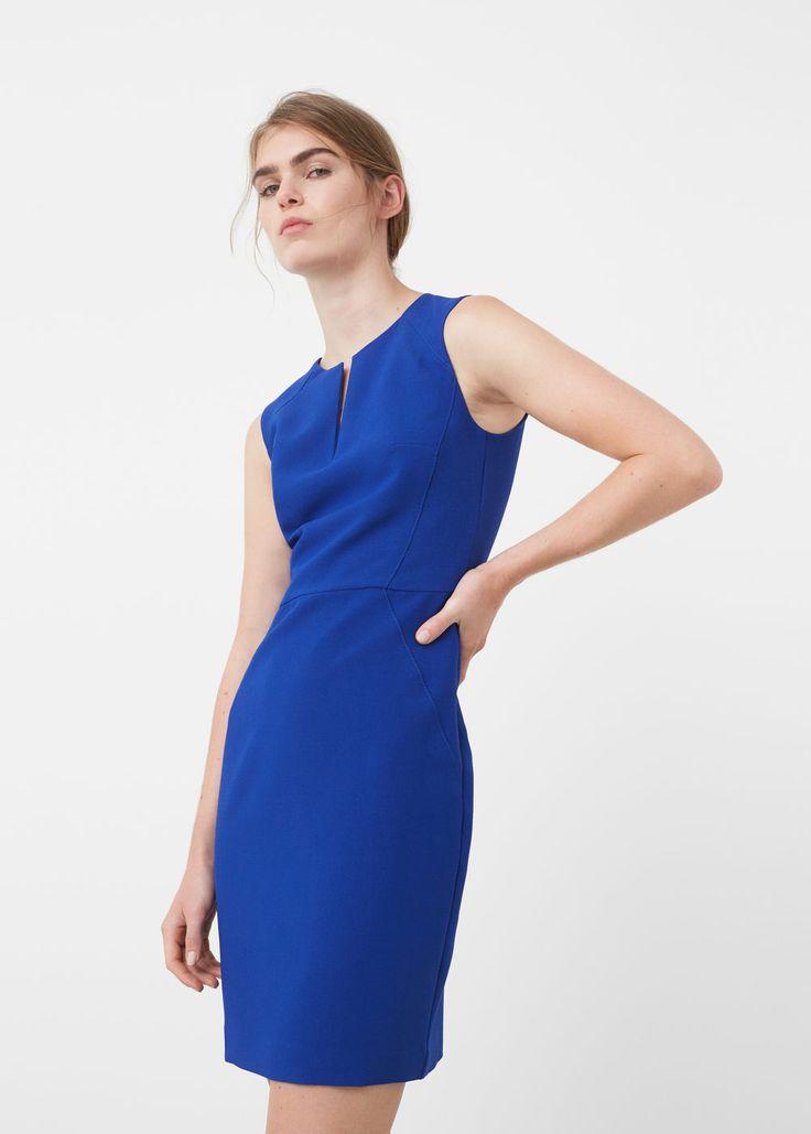 Seam bodycon dress - Dresses for Woman | MANGO Greece