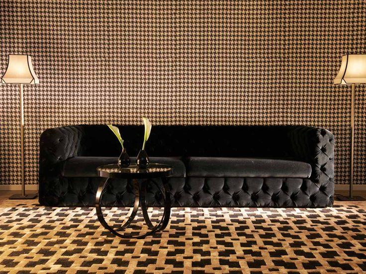 oltre 25 fantastiche idee su divano nero su pinterest | arredo ... - Lusso Angolo Divano Nel Soggiorno Camera Design Con Parete Di Vetro
