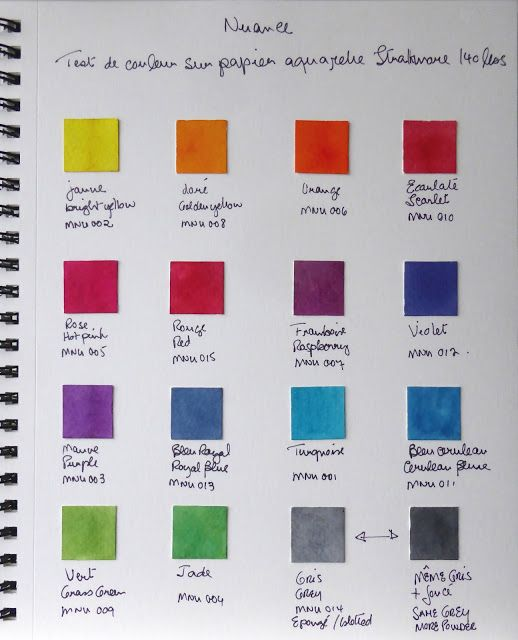 Magenta: Nuance test de couleur / Nuance Colour Swatches