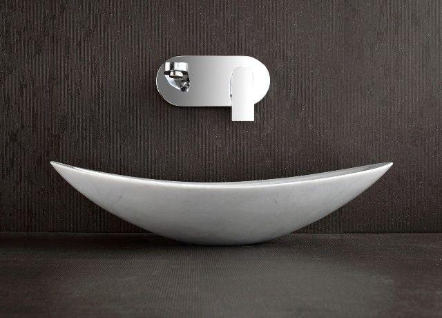 Charmant Nero   White Marble Above Counter Stone Basin Modern Bathroom Sinks