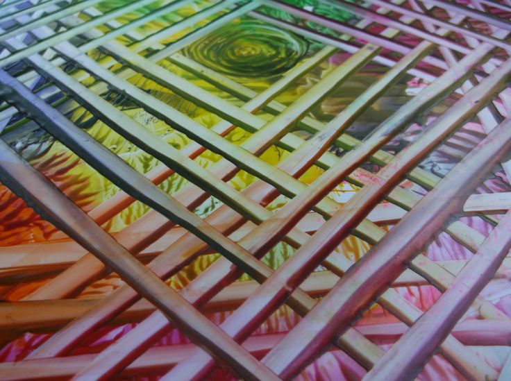 photo of a grid painting