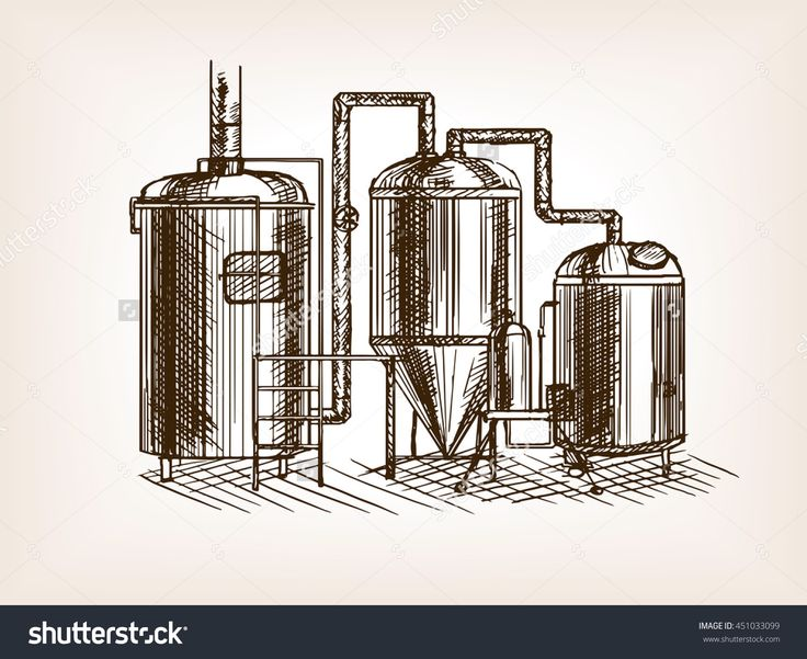 Beer Brewing Sketch Style Vector Illustration. Old Hand Drawn Engraving Imitation. - 451033099 : Shutterstock