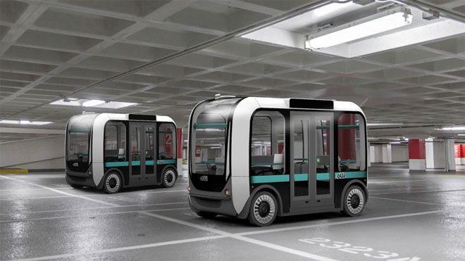 3D 프린터로 만든 인공 지능 버스 Olli, 도로 테스트 시작   오토뷰