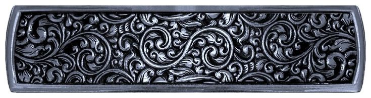 Saddleworth Tooled Leather Look Drawer Pull 3-7/8 inch Brite Nickel (NHP-659-BN)...