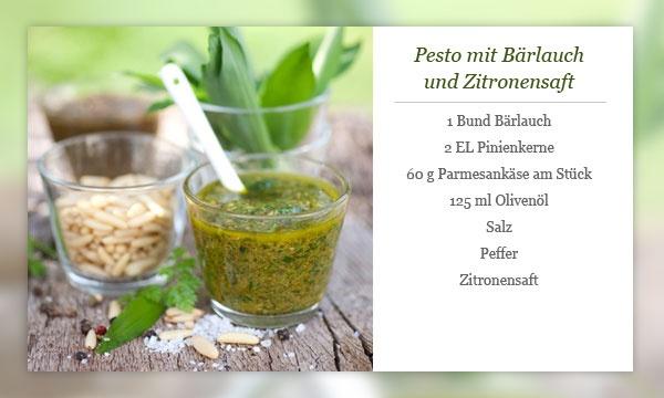Rezept - Pesto mit Bärlauch und Zitronensaft