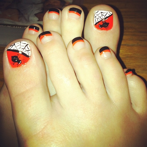 14 Pedicure Nail Designs For Halloween – Top New Easy Home Manicure Project  - HoliCoffee - Best 25+ Halloween Toes Ideas On Pinterest Halloween Toe Nails