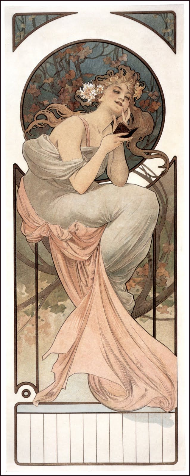 Love the look of bliss on her face - Alfons Mucha