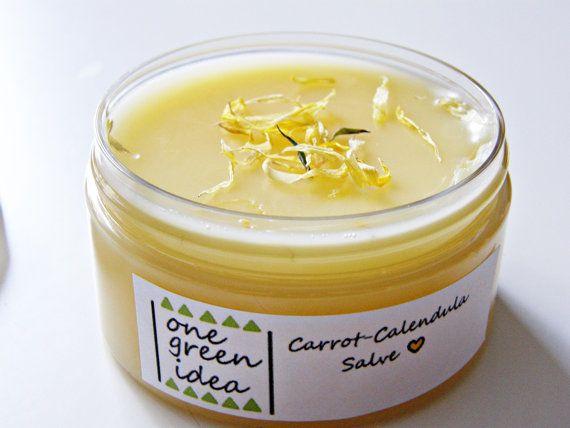 Carrot Calendula Salve Balm Herbal Salve Healing by OneGreenIdea, €8.50